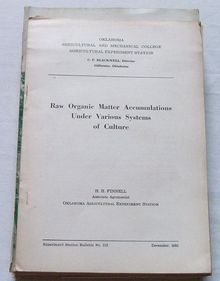 Oklahoma Agriculture- Organic Matter Accumulations,1933
