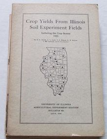 Crop Yields from IL Soil Experiment Fields, 1935 Season