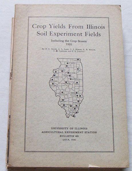 Crop Yields from IL Soil Experiment Fields, 1935 Season