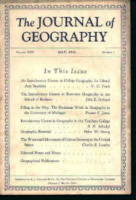 Journal Of Geography; Geography for College!