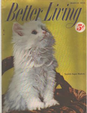 Better Living 3/1952 Persian Kitten, fashions