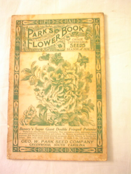 Park's Flower Book 1937 season Fringed Petuni