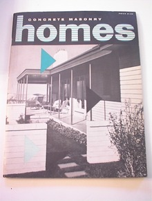Concrete Masonry Homes Magazine.1956