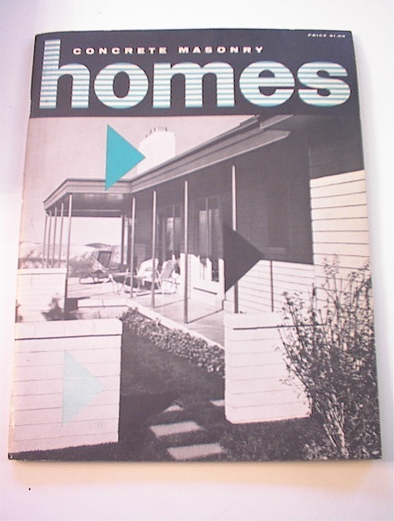 Concrete Masonry Homes Magazine.1956