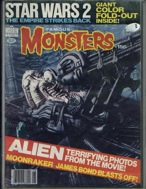 Famous Monsters, Alien, Moonraker, 8/79