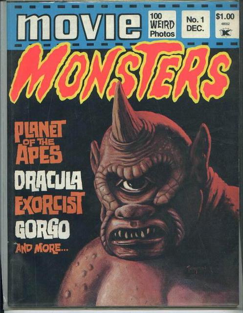 Movie Monsters, Gorgo, Dracula, 12/74