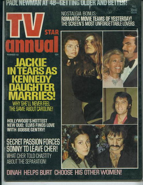 TV Star Annual, Elvis, Jackie, Newman, 1973