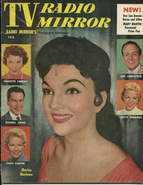 TV Radio Mirror, Marion Marlowe, 2/56