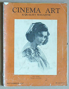 CINEMA ART, September 1927, POLA NEGRI cover!