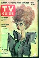 TV Guide-4/30/66- Lucy on the Cover! Vietnam