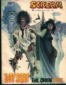 Scream-10/73-Lady Satan, Evil Origin Issue!