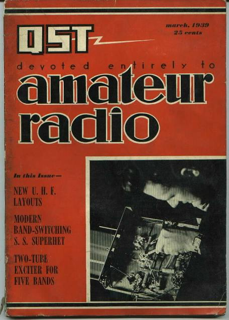 QST magazine, New UHF layouts, 3/1939