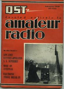 QST magazine, More on Antennas, 2/1939