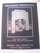 1942 Reliance Steel products folder