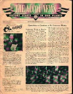 The Alcoa News from 2/14/44 B-17 Artwork!