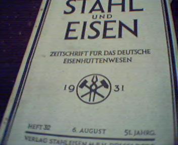 Stahl und Eisen  8/31( Steel and Iron)