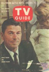 TV Guide 5/1961 Ronald Reagan Dorothy Malone