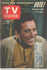 TV Guide 3/23/1963 Andy Williams Jack Benny