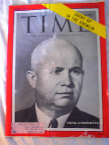 TIME Magazine,Nikita Khrushchev,cover 2/21/55