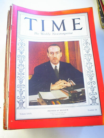 TIME Magazine,6/14/37,Hoover Gibson cover