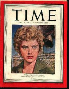 Time-8/2/43 Ingrid Bergman on Cover!