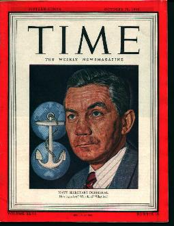 Time-10/29/45 Navy Secretary Forrestal on Cvr