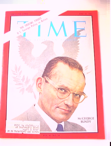 TIME Magazine,6/25/65 McGeorge Bundy cover