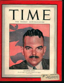Time-11/01/43-Governor Dewey on Cover!