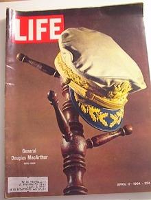 LIFE Magazine,4/17/64,General MacArthur RIP