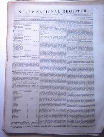 Nile's National Register,1839,Mr.Rives Speech