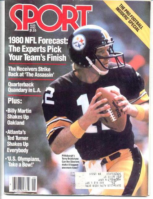 Sport Mag. Steeler Terry Bradshaw, 1980