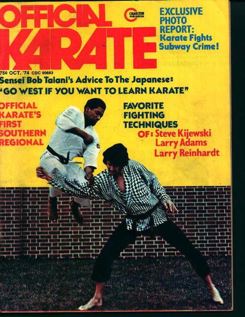 Official Karate-10/74-Bob Taiani,Larry Adams