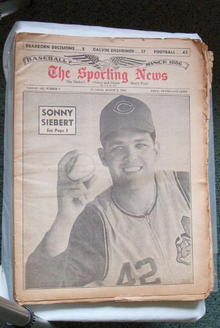 The Sporting News - 8/7/1965 Sonny Siebert
