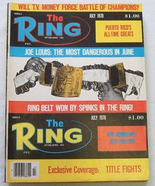 The Ring - Boxing News Mag. 7/1978 Joe Louis