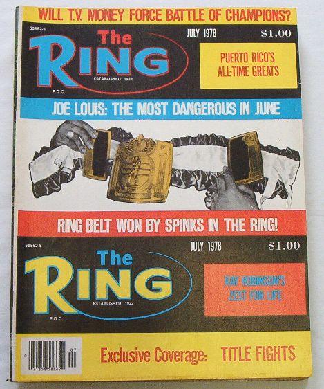 The Ring - Boxing News Mag. 7/1978 Joe Louis