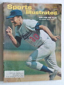 Sports Illust. 7/12/65 Dodgers' Maury Wills