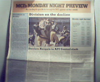 MCI Monday Night Preview-10/1/84 Steelers v Bengals!
