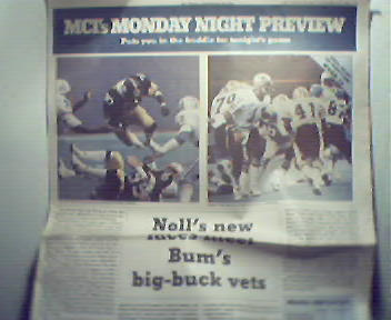 MCI's Monday Night Preview-11/19/84 Steelers v Saints!