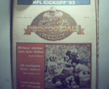 Pro Football Weekly NFL Kickoff 1983-9/6/83