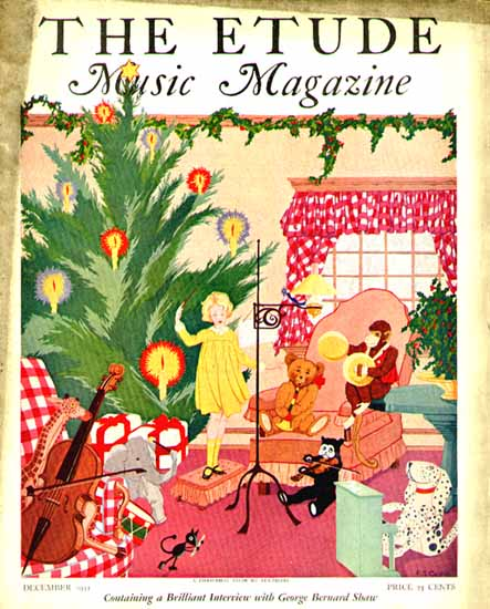 The Etude Music Magazine Dec 1931 G B Shaw