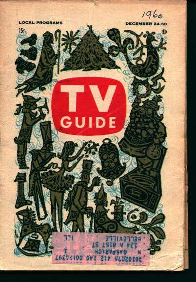 TV Guide-Dec 24-30 1960- Christmas Cover!