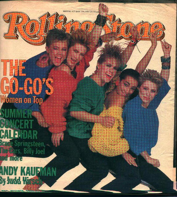 Rolling Stone from 7/5/84 Go Go's On Cover!