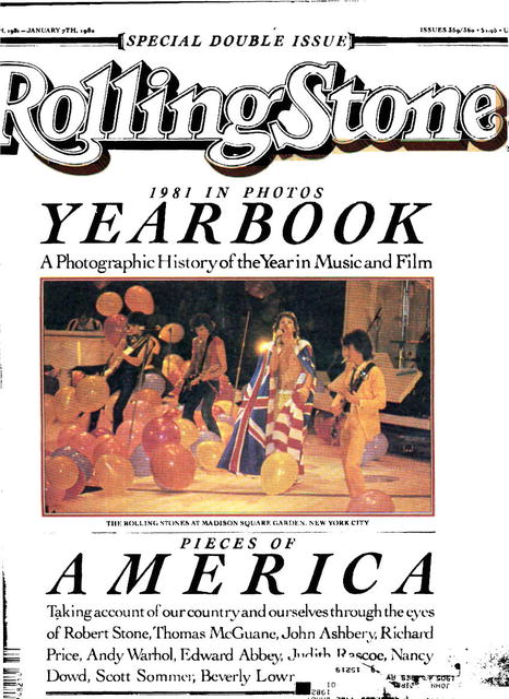 RollingStone Mag. Issue 359/360 Dec. 24, 1981