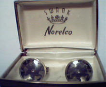 Swank Cufflinks with Norelco Rotary Blades!