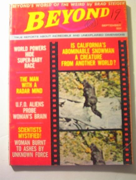 BEYOND,9/68,U.F.O.Aliens Probe Woman's Brain