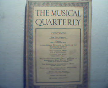 Musical Quarterly-4/29 Music and Movies!Cassa