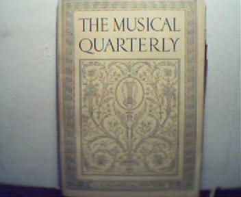 Musical Quarterly-7/24 Pianists, Debussy, Mor
