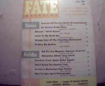 Fate Magazine-6/1959 Houdini Code, Exorcism!
