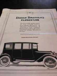 The Youths Companion Dec 1916 Dodge Ad
