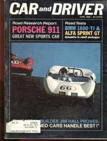 Car & Driver April 1965 Porsche 911, BMW more